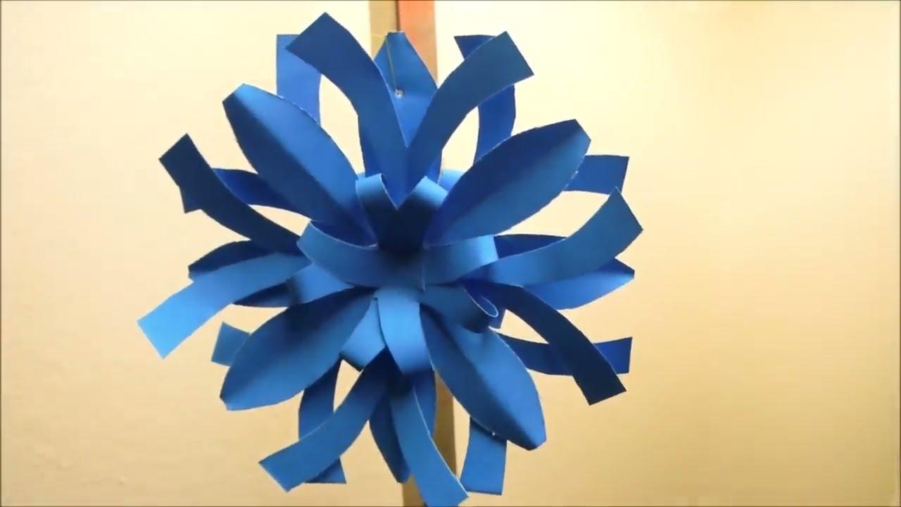 Diy easy 3d paper christmas ornament or snowflake design 2 for Diy paper snowflakes 3d