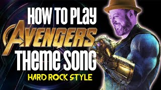 Avengers Theme Song - Guitar Lesson