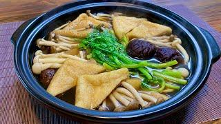 [내맛대로 채식요리] 담백한 유부버섯전골 일식전골 채식…