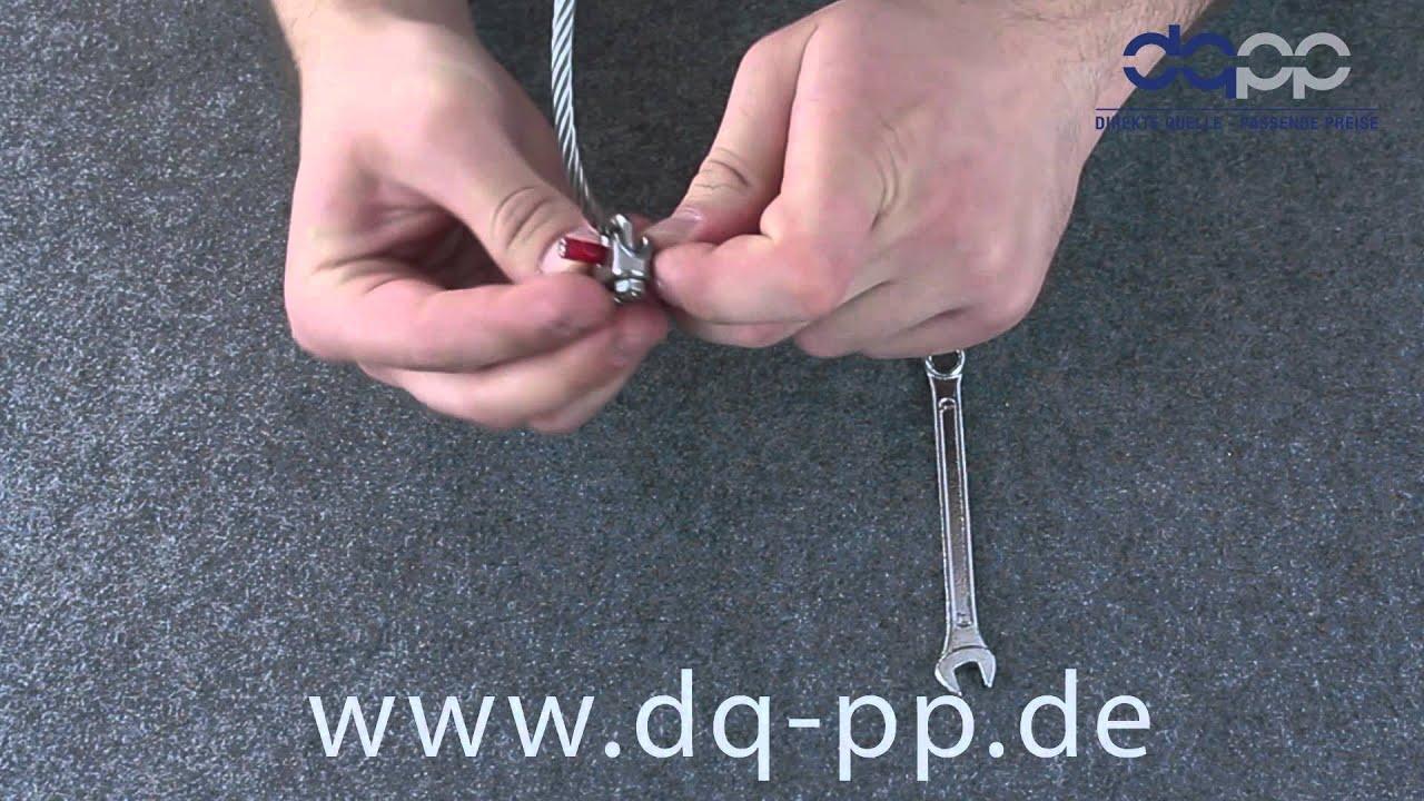 Bügelklemmen Montageanleitung - YouTube