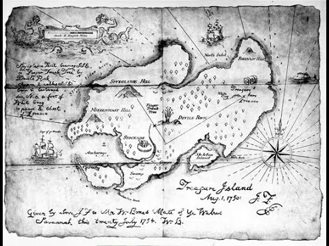 Mapa Isla Del Tesoro.La Isla Del Tesoro Robert Louis Stevenson