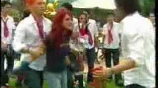 Pelea de Roberta vs Diego.  Por decirle que los estafo - Rebelde - RBD