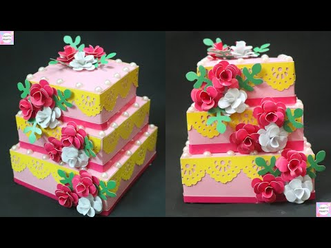 Birthday Cake Tutorial for Explosion box / Paper Cake Tutorial | How to Make Birthday Cake