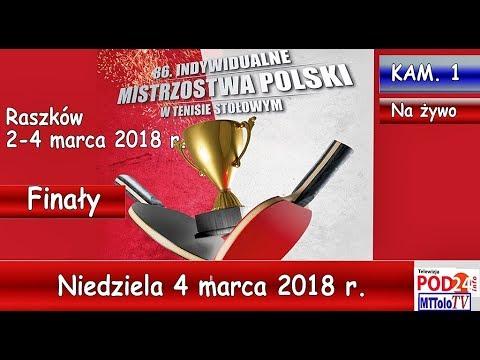 86. INDYWIDUALNE MISTRZOSTWA POLSKI W TENISIE STOŁOWYM – niedziela 4 marca