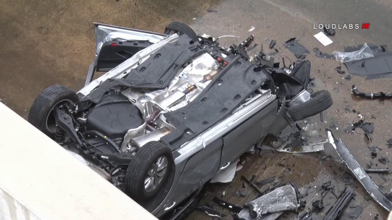 Fatal Traffic Collision Vehicle Flew Off Freeway San Bernardino