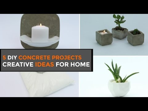 5 DIY Concrete Projects For Beginners