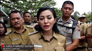 HEBOH!!! Video Bupati Kab. Landak Karolin Margret Natasa Berbasah-Basah Tinjau Lokasi Banjir Meranti