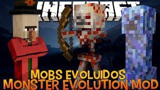 Mobs Evoluídos e  Mais Fortes ( Nuclear Creeper) - Monster Evolution Mod Minecraft