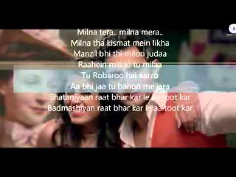 Shaitaaniyan Official lyrics   Badmashiyaan   Sidhant Gupta & Gunjan Malhotra   Ankit Tiwari