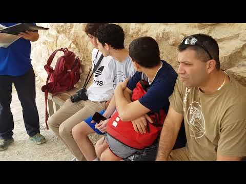 Masada, Israel - Tomorrow the Roman soldiers are about to conquer Masada. Tour guide: Zahi Shaked
