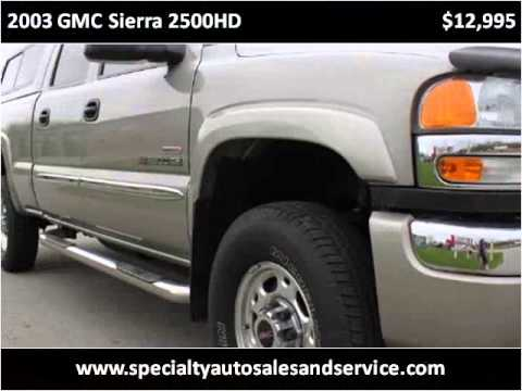 2003 gmc sierra 2500hd used cars green bay wi youtube. Black Bedroom Furniture Sets. Home Design Ideas