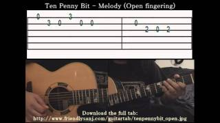 Guitar Tutorial 2 - Irish Folk - Ten Penny Bit - Full Tab