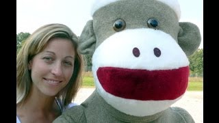 giant 6 feet tall big plush sock monkey weighs over 20 pounds made in the usa at bigplush com