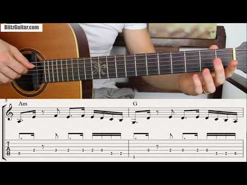 A Super Easy Spanish Melody for Beginners! Fingerstyle Lesson