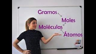 QUÍMICA. Pasar de gramos a moles a moléculas y a átomos y al revés