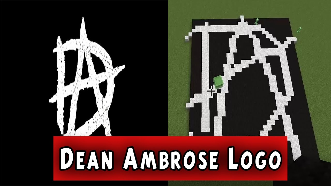 WWE Dean Ambrose Minecraft Logo