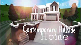 Roblox Bloxburg : Contemporary Hillside Home - 85k Bloxburg House