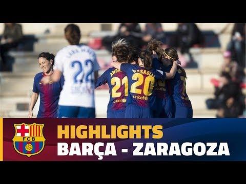 [HIGHLIGHTS] FUTBOL FEM (Liga): FC Barcelona – Zaragoza (2-0)