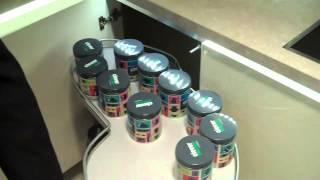 Lemans Corner Storage Unit At Chippendale Kitchens