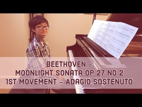 Beethoven - Moonlight Sonata Op 27 No 2, 1st Movement - by Johnny Pham