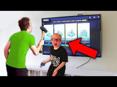 kid PUNCHES dad then STEALS credit card to buy v-bucks.. (Fortnite)