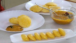 Idli Ginger Chutney with Pumpkin Idli - Healthy Idli Breakfast idea