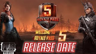 ROYALE PASS SEASON 5 ! OFFICIAL RELEASE DATE ! PATCH NOTE ! ZOMBIE LOADING SCREEN ! PUBG MOBILE