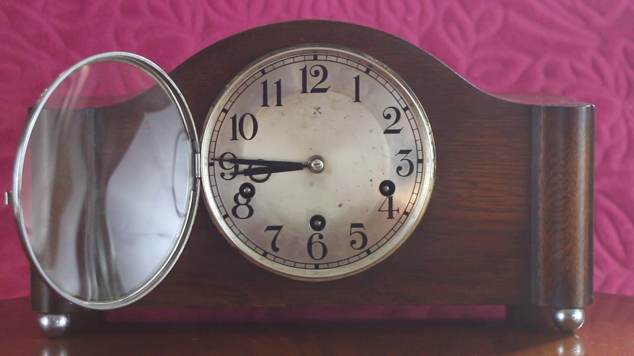 Vintage art deco german wurttemberg hac mantel clock with vintage art deco german wurttemberg hac mantel clock with westminster chimes amipublicfo Choice Image
