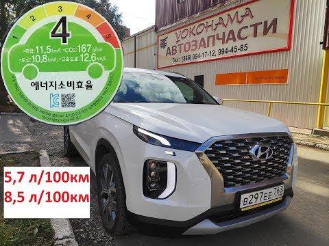 HYUNDAI PALISADE fuel flow расход топлива 8000 км пройдено 2200сс дизель