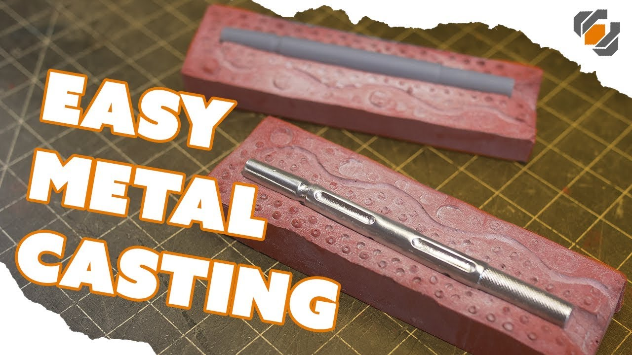 Easy Metal Casting - Pouring Liquid Pewter into a Silicone Mold