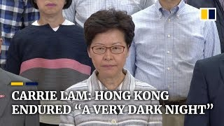 Carrie Lam: Hong Kong endured