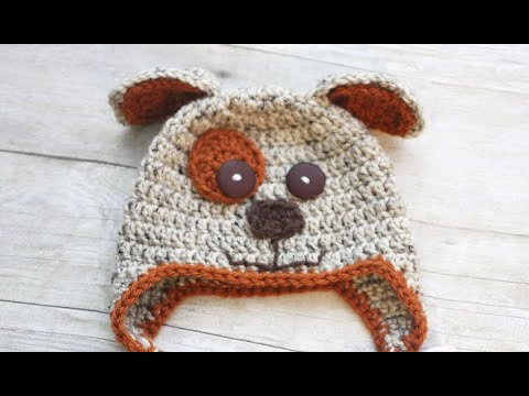 61c6b195ea2 Crochet Puppy Hat Nose and Mouth - YouTube