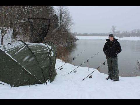 Video Winter catfishing