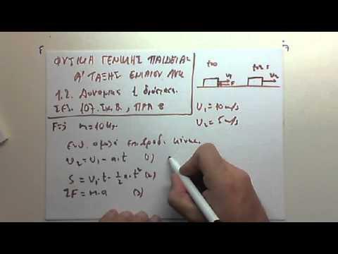 Ασκηση φυσικής Α λυκείου   8  σελιδα 107.wmv