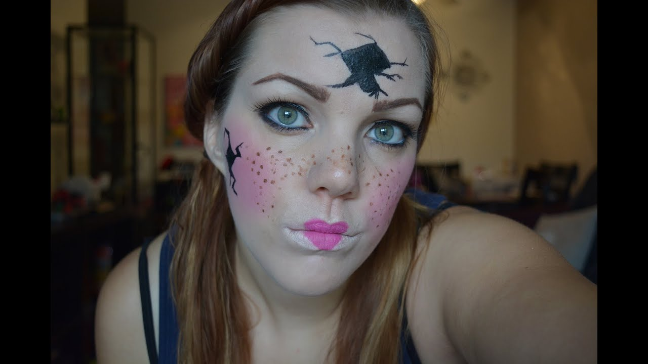 Poup e bris e maquillage d 39 halloween youtube - Maquillage poupee halloween ...