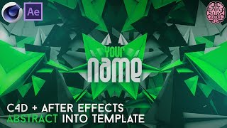 Free Abstract Intro Template (C4D+AE) by Qehzy