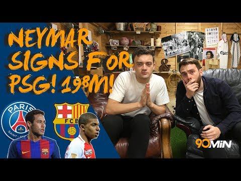 Neymar officially signs for PSG! | PSG announce world record Neymar transfer for £198m! | 90min