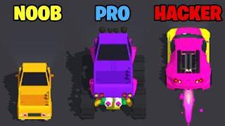 NOOB vs PRO vs HACKER - Traffic Run! screenshot 5