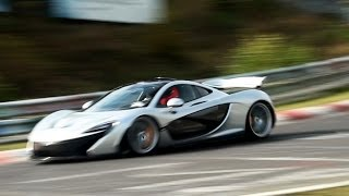 McLaren P1 on the Nürburgring! HARD sound + chase! 1080p HD