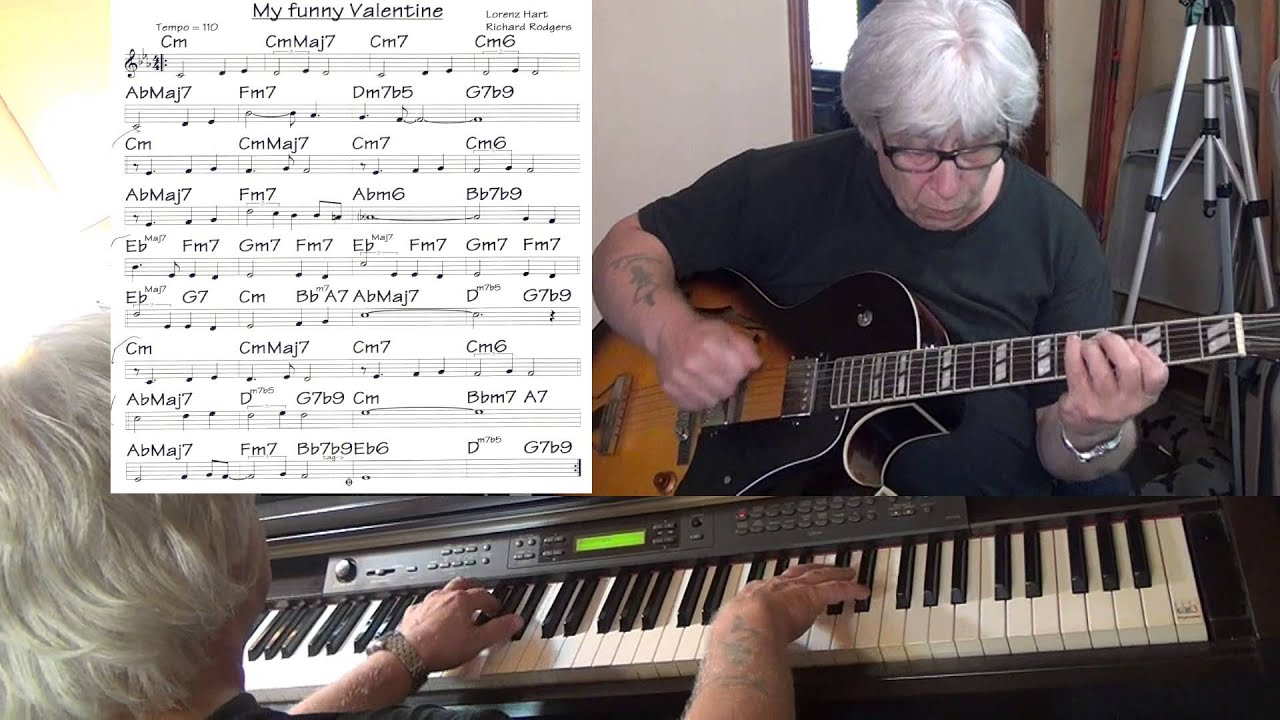 My Funny Valentine Jazz Guitar Piano Cover Yvan Jacques Youtube