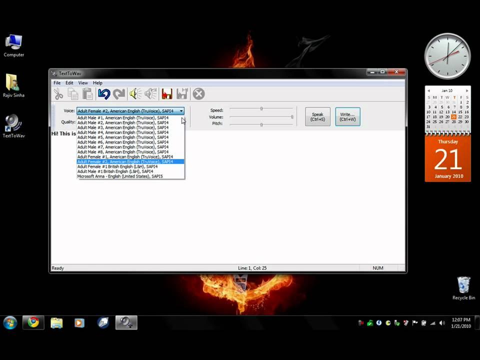speech to text converter software free  for windows 7