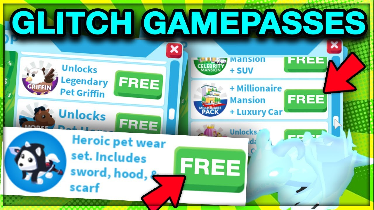 Glitch Get Any Gamepass For Free In Adopt Me No Robux Roblox