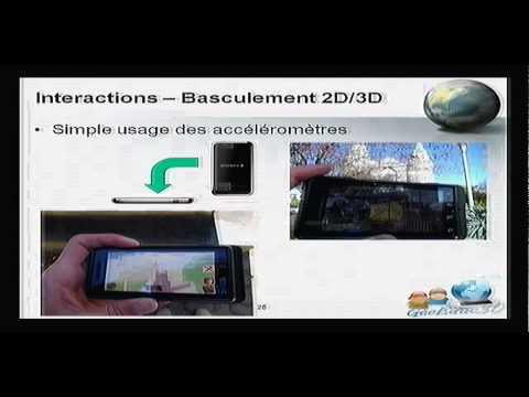 Interagir avec des objets de réalité augmentée géoréférencés sur téléphone intelligent