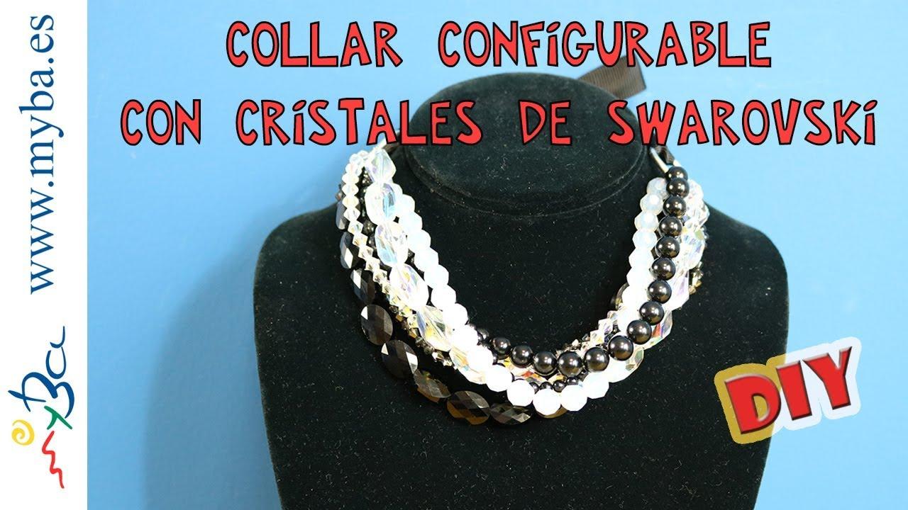 dede558a13bb Collar de fiesta de Cristales de Swarovski configurable. Bisutería DIY.