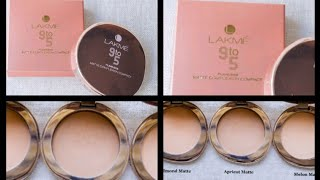 BEST COMPACT FOR OILY SKIN LAKME 9-5 FLAWLESS MATTE COMPLEXION COMPACT APRICOT REVIEW ONLINE SHOPPIN