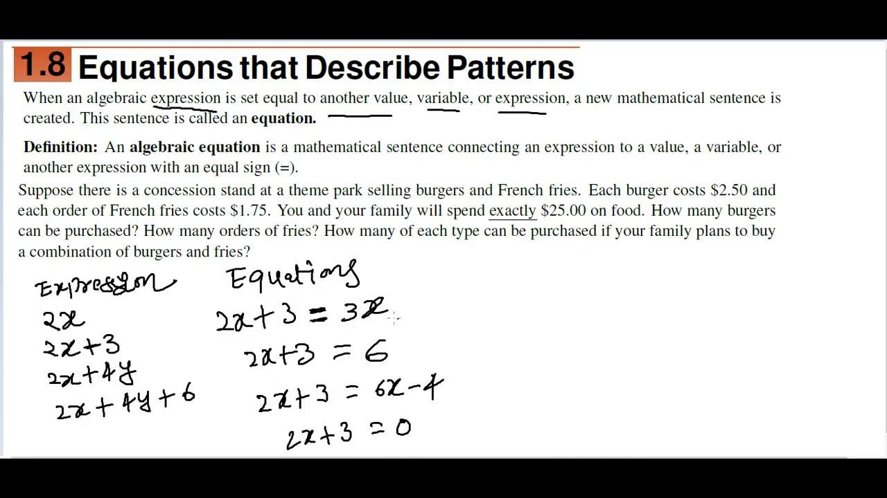 BASIC ALGEBRA : algebraic equations and patterns in Telugu and ...