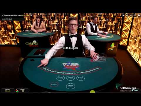 Evolution Gaming - Texas Hold'em Bonus Poker - Gameplay Demo