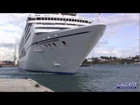 Seven Seas Mariner Departs Bermuda, Mar 23 2013