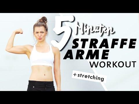 Workout für straffe Arme   5 Minuten Kurz & Intensiv + Stretching   Zuhause trainieren