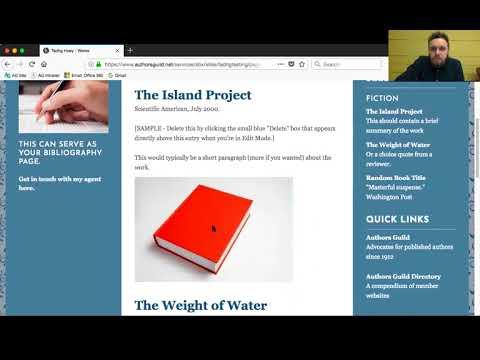 Author Websites: Our New Sitebuilder Features
